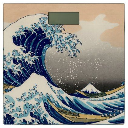 KATSUSHIKA HOKUSAI – The great wave off Kanagawa Bathroom Scale | Zazzle.com