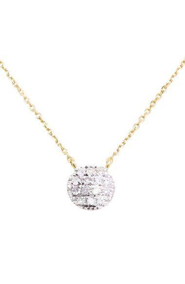 Dana Rebecca Designs 'Lauren Joy' Diamond Disc Pendant Necklace available at #Nordstrom