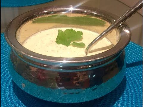 Poppadom MINT Yogurt dip (Chutney) Restaurant Style - Al's Kitchen - YouTube