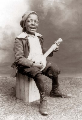 1897 Young, American, Black Minstrel Boy. (Cute as the Dickens)