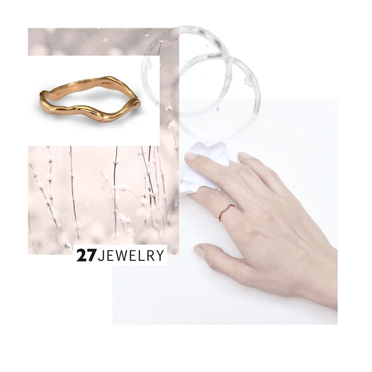 Rose Gold Simple Band / handmade organic ring from 27JEWELRY