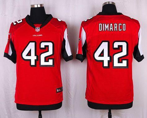 Atlanta Falcons #42 Patrick DiMarco Red Team Color NFL Nike Elite Men's Jersey