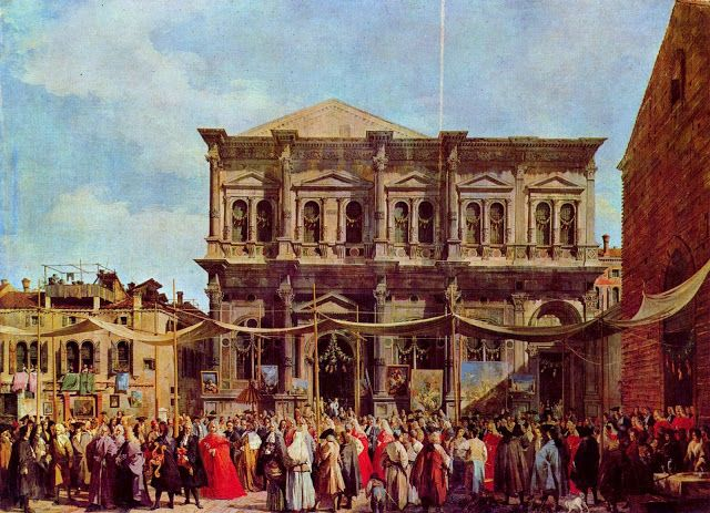 Canaletto, The day of the feast of San Rocco, 1735