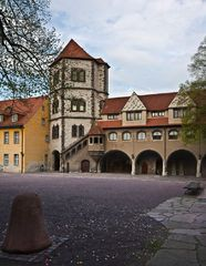 Moritzburg, Burghof-Ostseite in Halle/Saale #VisitHalle