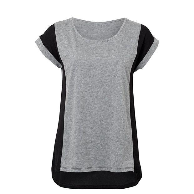 Spliced Panel Knit Top - Grey + Black