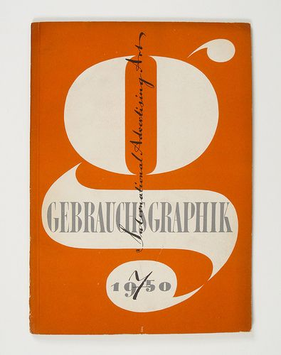 Cover of Gebrauchsgraphik by Heinz Hadem, 1950
