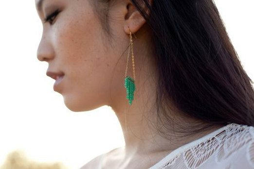 ayofemi jewelry | turquoise sunburst earrings: Pop Of Colors