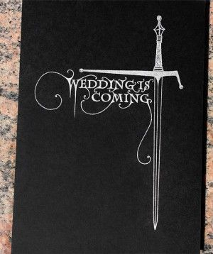 The Wedding is Coming: Tony + Hsiao's Game of Thrones Wedding Invitations by Lion in the Sun