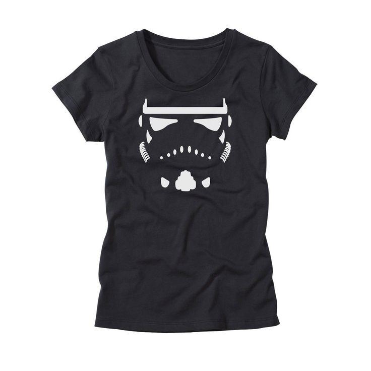 Storm Trooper Helmet Shirt - Womens Star Wars T-Shirt by HG Apparel