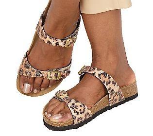 Birkis Glitter Bead Double Strap Sandals