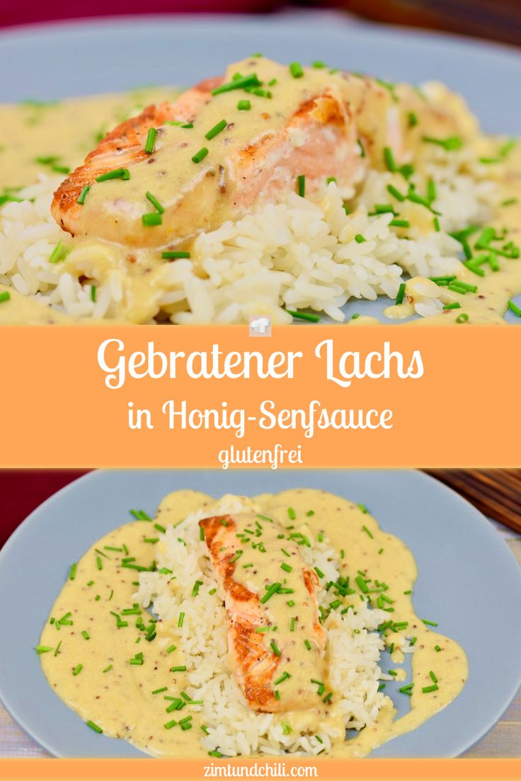 GEBRATENER LACHS IN HONIG-SENF-SAUCE Die Sauce passt gut zu Fisch und schmeckt …   – Clean Eating – Rezepte