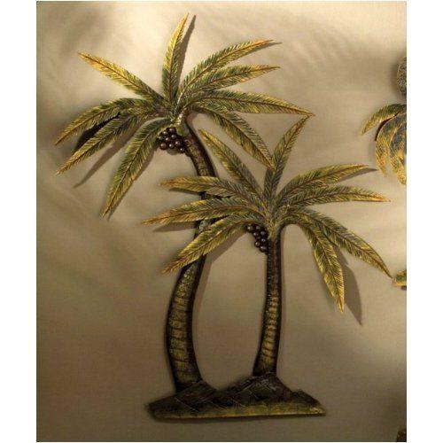 Palm Tree Decor Coco Metal Wall Home Kitchen