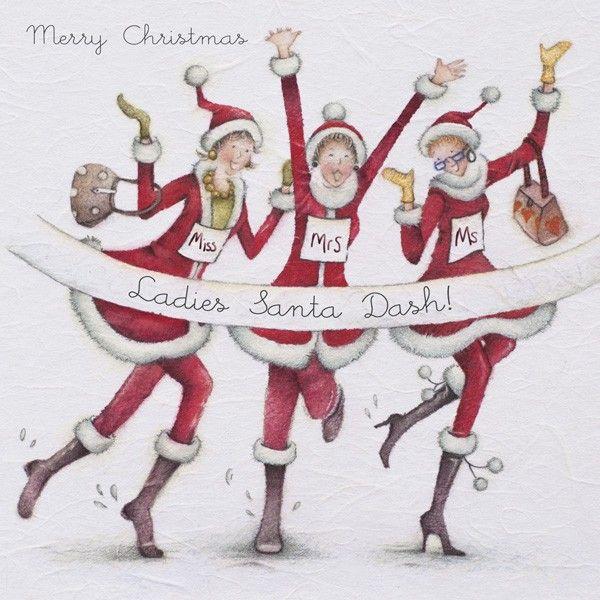 Cards » Santa Dash » Santa Dash - Berni Parker Designs