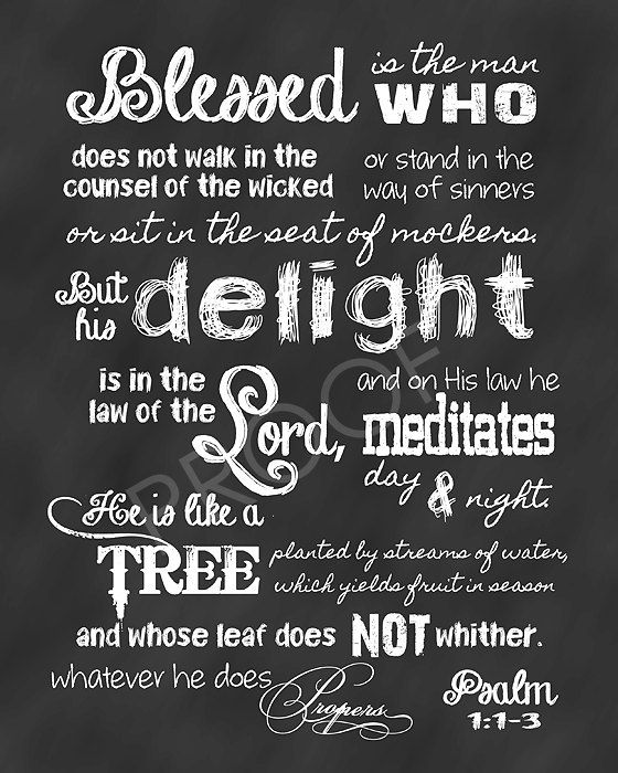 Love Psalms 1? Get a poster of the text! Or check out Elijah Aaron's interpretation of the Psalm