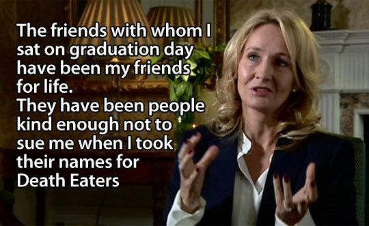 J. K. Rowling showing some love…