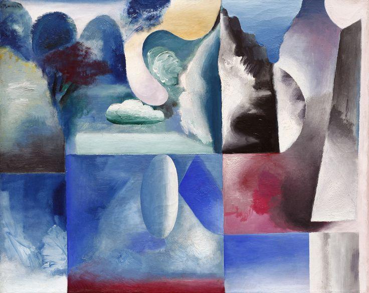 Mistrovská práce Jana Baucha - Snová krajina z roku 1932 ozdobí naší listopadovou aukci.  Olej na plátně, 81 x 100 cm, rámováno, datace 1932, signováno vlevo nahoře J. Bauch.  ...Hledal jsem způsoby, jak udělat z obrazu báseň, jakoby symbol nebo metaforu, hledal jsem tvary vymyšlené, vycházející z fantazie a kombinované do jiných souvztažností, než jaké má realita....  Odborný posudek: PhDr. Rea Michalová, Ph.D.  Provenience: Sbírka JUDr., PhDr. Jaroslava Borovičky, restituce z NG v Praze…