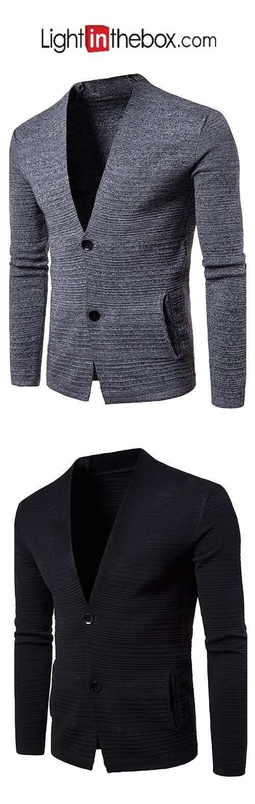 Men's Daily Going out Casual Regular Cardigan