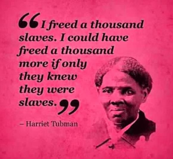 Harriet Tubman quote  civil rights black liberation struggle freedom equality slavery hero legend icon history