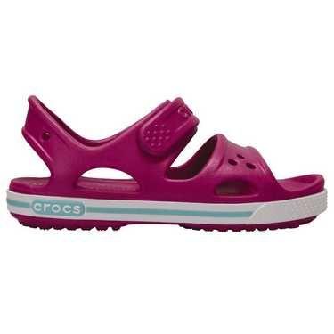 Crocs Kid's Crocband II Sandals Vibrant Violet & White size 12 (UK/US) EUR 29-30