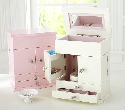 White Jewelry Dresser