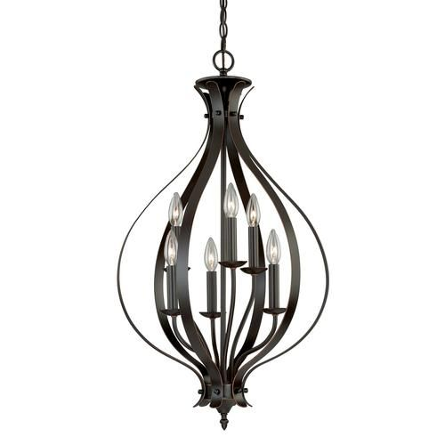 Owen 6 Light 18 Burnished Bronze Caged Pendant At Menards