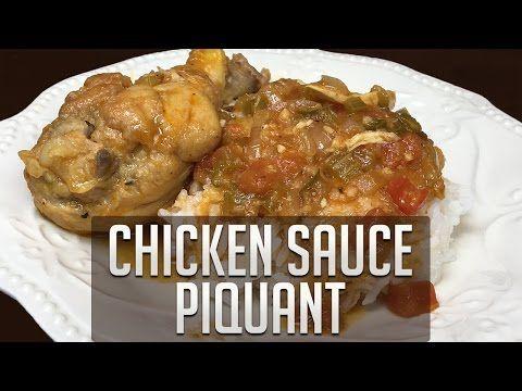 Chicken Sauce Picante (Cajun Recipe) - YouTube