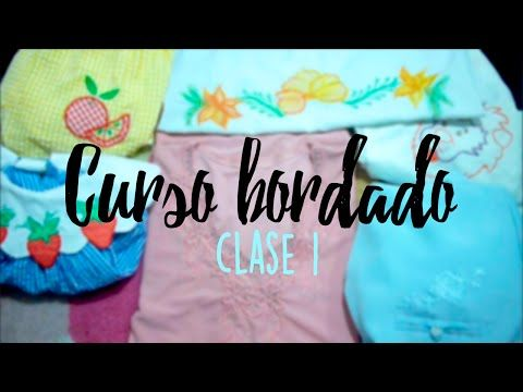 CURSO BORDADO CON MAQUINA DE COSER.   CLASE 1. - YouTube