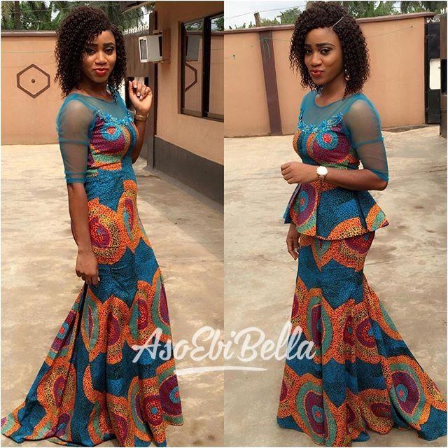 Designer Labbyjc In Two In One Peplum Dress African
