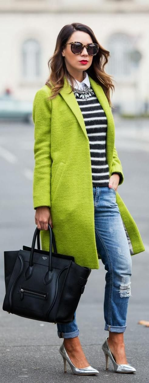 Lime Green & Stripes   http://www.cashmereinstyle.com/2013/12/lime-green-stripes.html