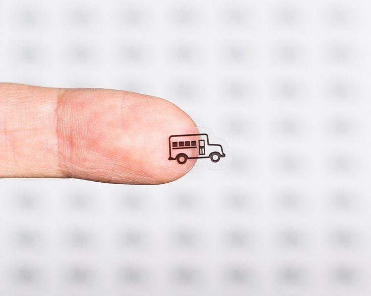 63 Clear School Bus Planner Stickers