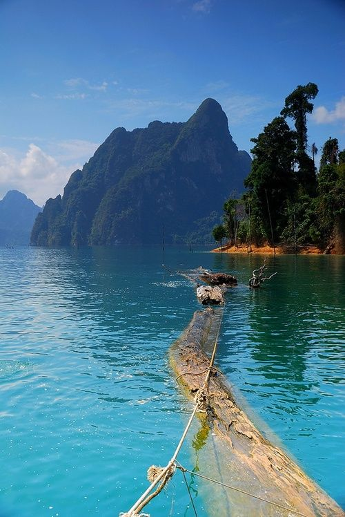 Khao Sok, Thailand. Raft houses in the biggest dam I've ever seen. Wake up to monkeys in the jungle and cannonbaaaaaaall!!