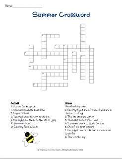Summer crossword puzzle! Another end of the year idea.