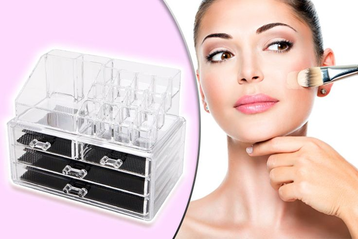 Makeup Storage Box With 20 Compartments deal in Cosmetics Get a cosmetic makeup organiser with drawers and 20 compartments.  Features a variety of different sized and shaped compartments.   Perfect for storing bottles, makeup palettes and much more.  Made of durable acrylic.  Sleek transparent design to help you find your makeup easily!  Start your new year with a tidy mind and makeup box! BUY...