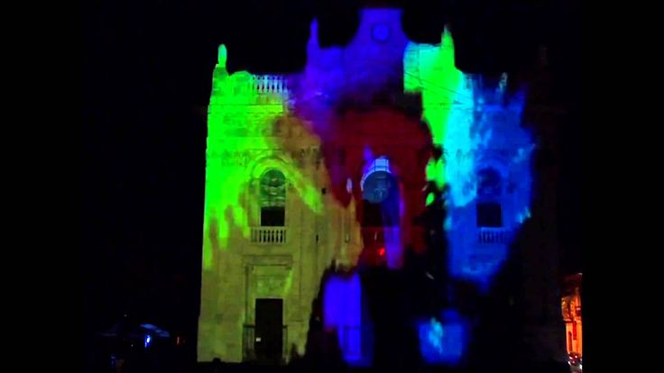 Projection mapping Bright paintbrush