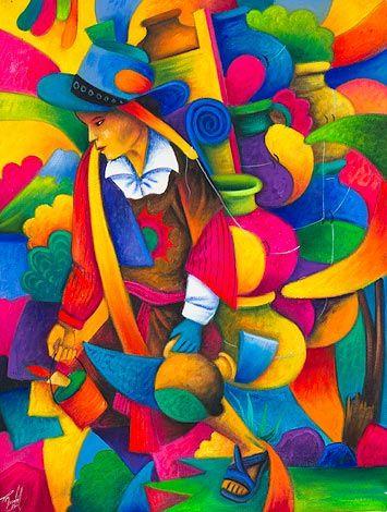 Vendedor de tinajas.Julian Coche Mendoza Mayan artist San Juan la Laguna Guatemala