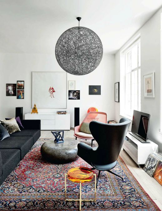 BLISS - art-filled copenhagen apartment: Interior Design, Livingrooms, Idea, Living Rooms, Coffee Table, Interiors, Space, Light Fixture