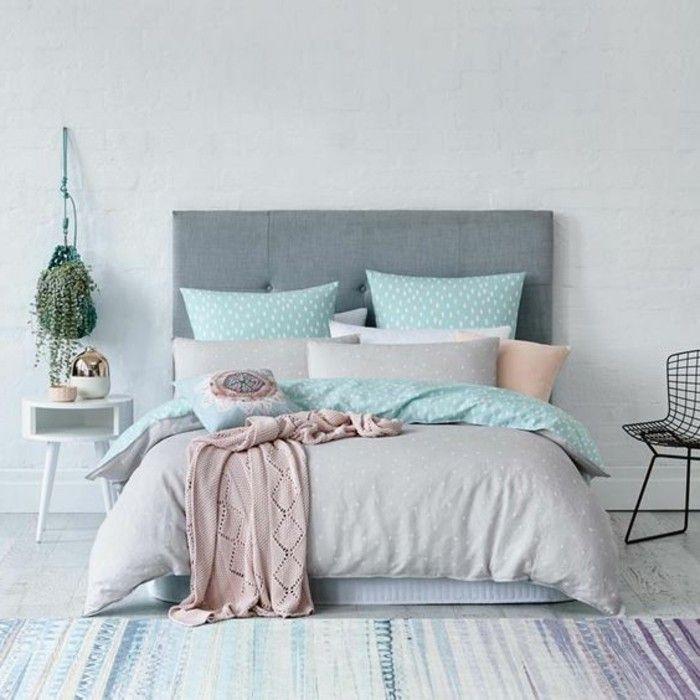 591 best Chambre, bureau, dressing et salle de bain images on - chambre bleu gris blanc