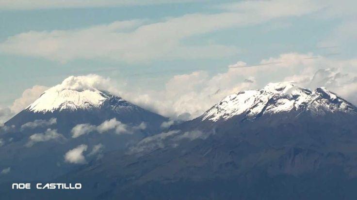 Vista Aerea Popocatepetl & Iztaccihuatl - Despegue de la Ciudad de Mexic...