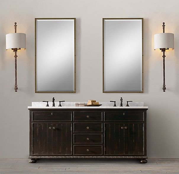 French Empire Double Vanity Sink: Restoration Hardware, French Empire, Double Vanity, Double Sink, Vanities, Sinks, Bathroom Remodel, Vanity Sink