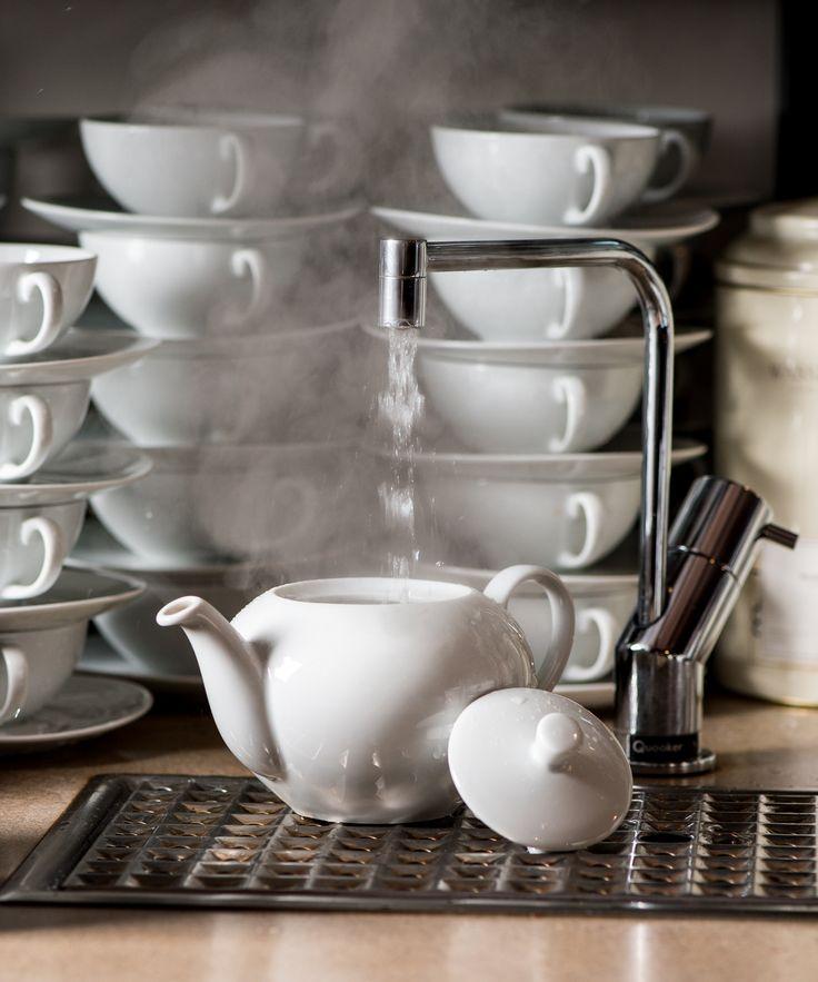 Quooker Kochend-Wasserhahn Fusion   boiling water tap   #Tee #Kueche #kitchen #hotwater #teebar #tea