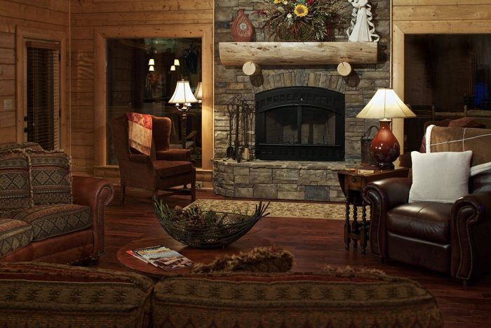 Satterwhite Log Homes Mountain Laurel Interior Views