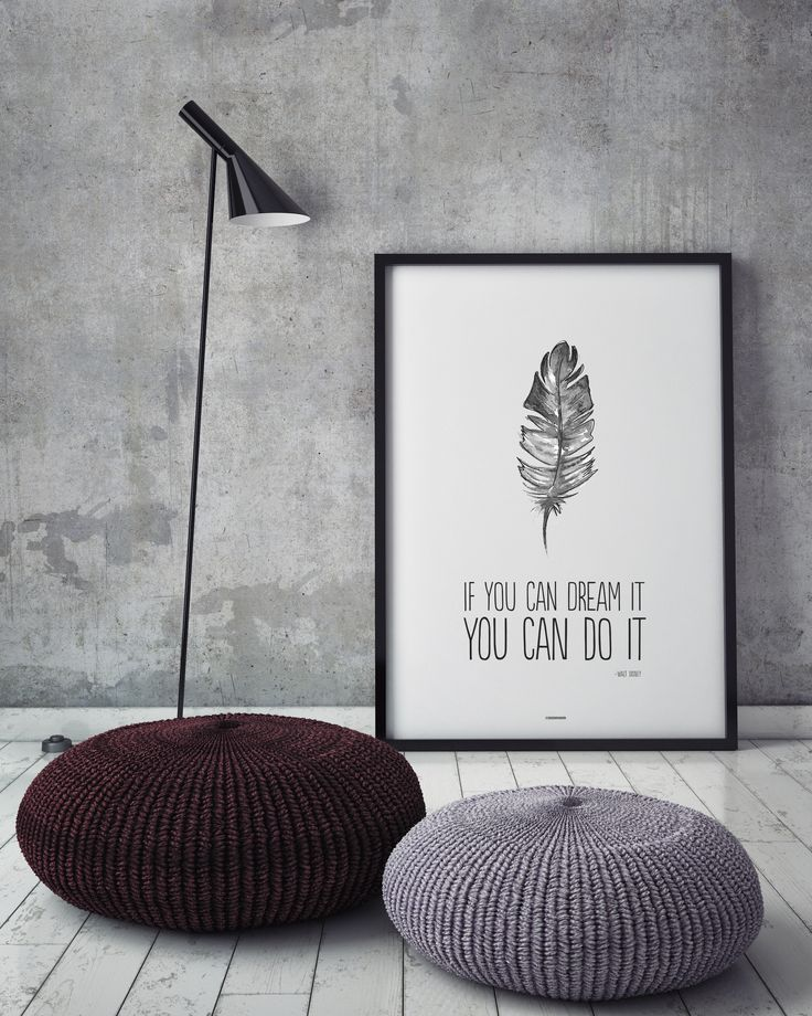 Poster with quote - If you can dream it, you can do it! Love it! Made by Designparken. See this and more at www.designparken.com