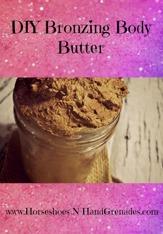 DIY Bronzing Body Butter - Horseshoes & Hand Grenades