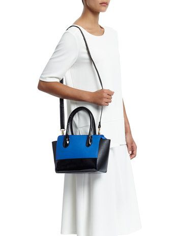Add a splash of colour to any outfit with this blue bag from BHS.