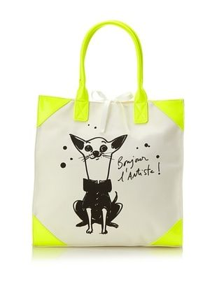 40% OFF Izak Women's Dog Tote, White/Yellow