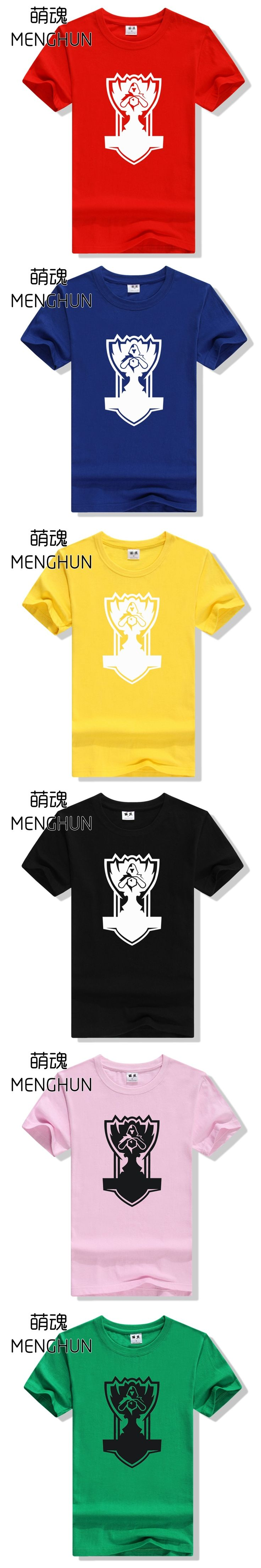 LOL S series championship cup design new concept tee shirt full cotton material LOL t shirts