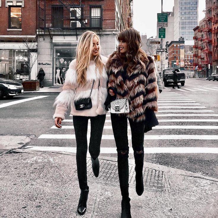 Short coats with fur