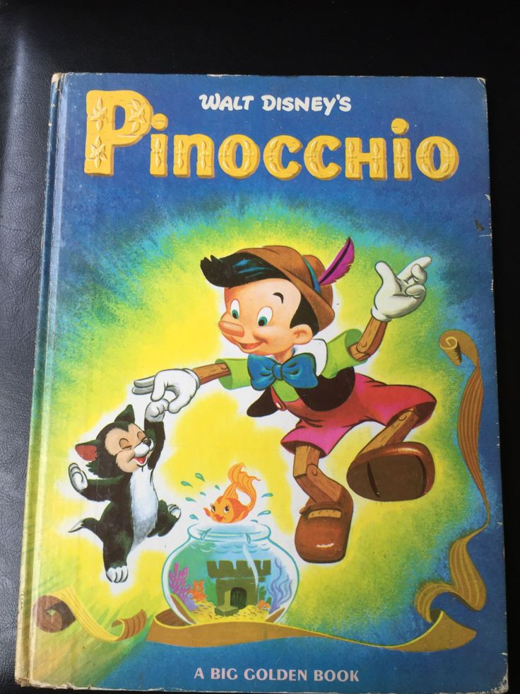 Vintage 1976 Dempster, Al WALT DISNEY'S PINOCCHIO Big Golden Book by weseatree on Etsy