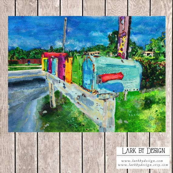 Colorful Mailboxes Pine Island Florida by LarkByDesign on Etsy
