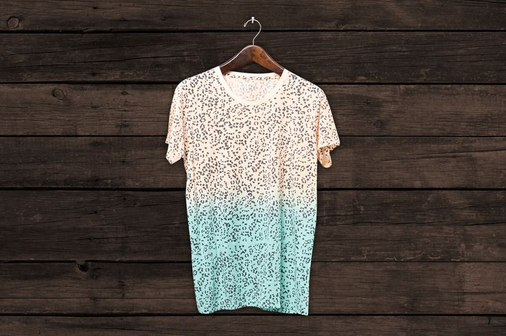 LEOPARD ROUND NECK T GRADIENT - ZUTTION #zuttionmens #washedout #vintagemens #mensclothing #mensfashion #ltdedition #fashiongraphics